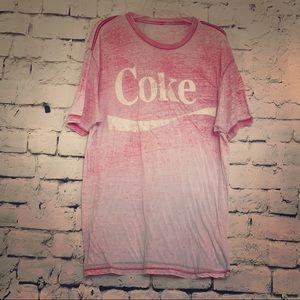Retro Vintage Coke Adult Paper Thin T-Shirt Sz 2XL